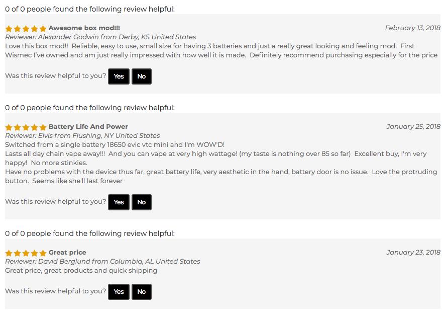 Wismec Reuleaux RX300 Reviews