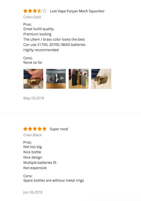 Lost Vape Furyan Reviews